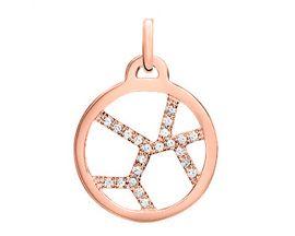 Pendentif collier Les Georgettes - Girafe Précieuses rosé 16 mm