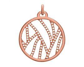 Pendentif collier Les Georgettes - Perroquet Précieuses rosé 25 mm