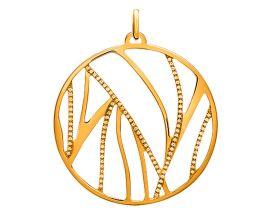 Pendentif collier Les Georgettes - Perroquet Précieuses doré 45 mm
