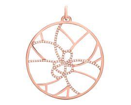 Pendentif collier Les Georgettes - Pétales Précieuses rosé 45 mm