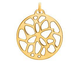 Pendentif collier Les Georgettes - Nénuphar doré - 25 mm