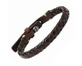 Bracelet cuir & acier Fossil - JA5932716