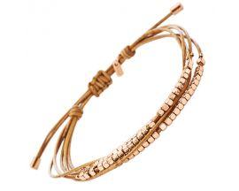 Bracelet cuir & acier Fossil - JA6422791