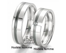 Alliance or diamant(s) Black and White Breuning - 48/06131