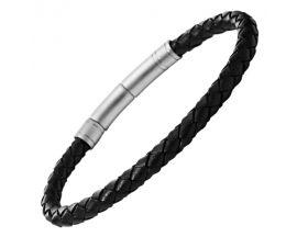 Bracelet cuir & acier Fossil - JF00510797