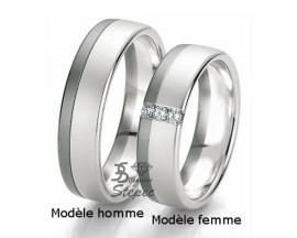 Alliance or diamant(s) Black and White Breuning - 48/06137