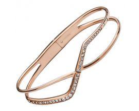 Bracelet rigide acier rosé empierré Fossil - JF02253791
