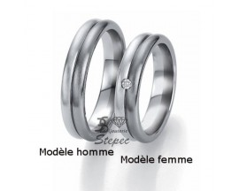 Alliance or diamant(s) Black and White Breuning - 48/06301
