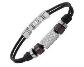 Bracelet cuir & acier Fossil - JF02208040