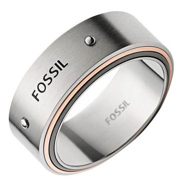 bague homme fossile