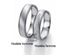 Alliance or diamant(s) Black and White Breuning - 48/06311