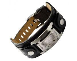 Bracelet cuir & acier Fossil - JF84816040