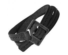 Bracelet cuir & acier Diesel - DX0567040