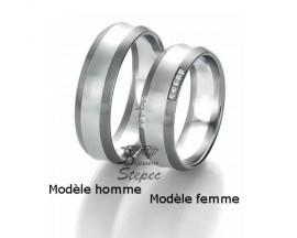 Alliance or diamant(s) Black and White Breuning - 48/06317