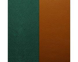 Cuir bracelet Les Georgettes FOR MEN - Vert canard/Camel 8 mm