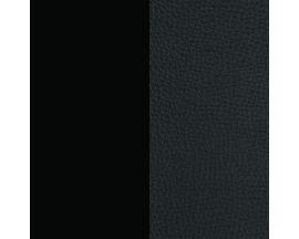 Cuir bracelet Les Georgettes FOR MEN - Noir grainé/Noir soft 8 mm