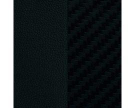 Cuir bracelet Les Georgettes FOR MEN - Noir/Carbone 8 mm