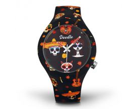Montre Mixte Calaveras orange Doodle - DOSK005