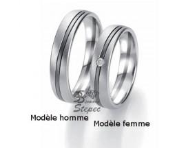 Alliance or diamant(s) Black and White Breuning - 48/06321