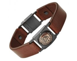 Bracelet cuir & acier Diesel - DX0775040