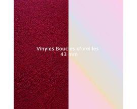 Vinyles boucles d'oreilles 43 mm Les Georgettes - Carmin/Coquillage