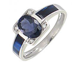 Bague or iolite et diamant(s) Clozeau - F657DOBPG