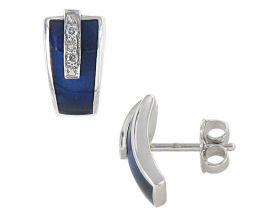 Boucles d'oreilles boutons diamant(s) or Clozeau - Y100DBPG