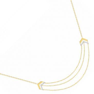 Collier plaqué or oxydes Phebus - 76700084BJ
