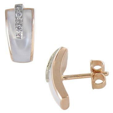 Boucles d'oreilles boutons diamant(s) or Clozeau - Y100DBR