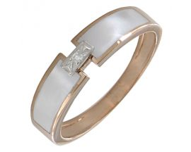 Bague or rose diamant(s) Clozeau - F304DBR