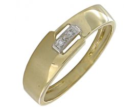 Bague or diamant(s) Clozeau - H339DB