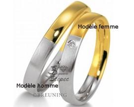 Alliance platine or & diamant(s) Breuning - 48/09015-0