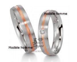 Alliance platine or & diamant(s) Breuning - 48/09019-0