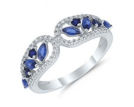 Bague or saphir(s) et diamant(s) Stepec - agrlBEBOg Sa og