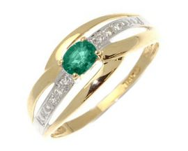 Bague or emeraude(s) et diamant(s) Stepec - xrlPBOj em oj