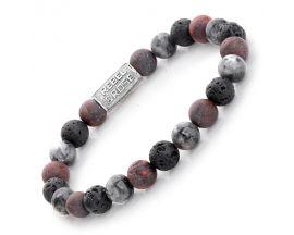 Bracelet perles Rebel & Stormy Weather 8 mm - RR-80050-S
