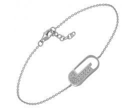 Bracelet argent et oxydes Jourdan - AMK003