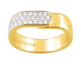 Bague plaqué or et oxydes Guy Laroche - G17003.10