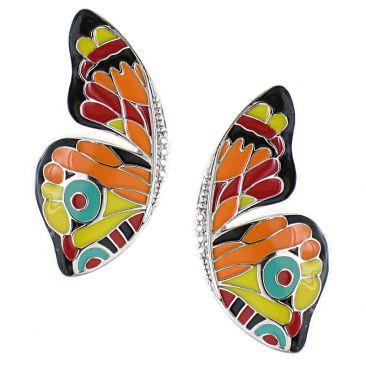 Boucles d'oreilles boutons argent Una Storia - BO121184