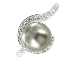 Bague or perle de Tahiti & diamant(s) Stepec - aBOJUt-g