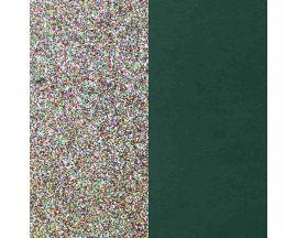 Cuir bracelet Les Georgettes - Paillettes multicolores/Vert canard 8 mm