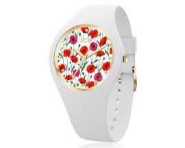 Montre ICE flower - White poppy - Medium (41,5mm) Ice-Watch - 016665