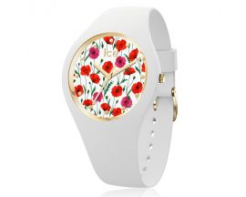 Montre ICE flower - White poppy - Small (35,5mm) Ice-Watch - 016657