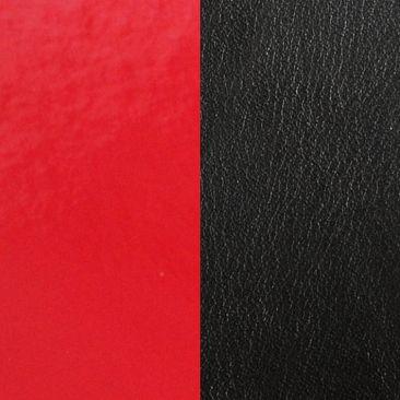 Cuir bracelet Les Georgettes - Rouge vernis/Noir 8 mm