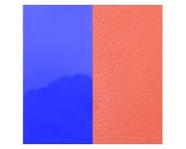 Cuir bracelet Les Georgettes - Violet vernis/Saumon 25 mm