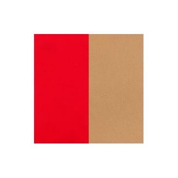 Cuir bracelet Les Georgettes - Rouge soft/Beige 8 mm