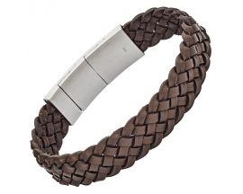 Bracelet cuir & acier - JF02933040