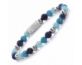 Bracelet perles Rebel & Rose Blue Summer Vibes II 6 mm - RR-60056-S