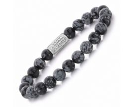 Bracelet perles Rebel & Rose Black Leopard 8 mm - RR-80062-S