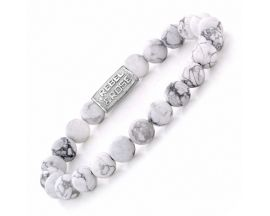 Bracelet perles Rebel & Rose Virgin White 8 mm - RR-80016-S